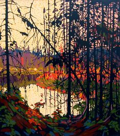View Northern river by Tom Thomson on artnet. Browse upcoming and past auction lots by Tom Thomson. Group Of Seven Art, Group Of Seven Paintings, Emily Carr, Canadian Painters, Canadian Artists, Landscape Art, Landscape Paintings, Tom Thomson Paintings, Art Gallery