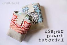 DIY diaper pouch