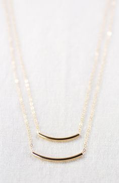 4f77e3446cd6f Kaipo i necklace layered gold bar necklace by kealohajewelry https   www.