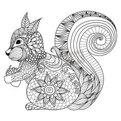 This Cute Squirrel Design Is Part Of Our New Coloring Wallpaper Collection