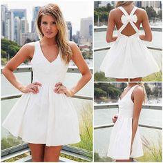 Sweet homecoming dress! Find More: http://www.imaddictedtoyou.com/