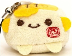 Yellow Hannari Tofu Plush Cellphone Charm