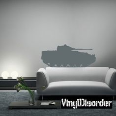 Vinyl Disorder decals are a great way to add a stylistic touch to almost any surface! Car Decals, Vinyl Wall Decals, Military Tank, Hearth And Home, Home Decor, Decoration Home, Room Decor, Car Decal, Home Interior Design