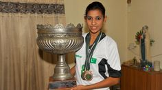 """Christian footballer kicking down barriers in Pakistan - Al Jazeera ---- Joyann Geraldine Thomas (2014 /17yrs) credits Ahmed Jan with bringing her up on the football field. """"For us, there is no such thing as a Christian girl or a Muslim girl. Even the other girls (in the team) never think about things such as religion or caste."""" Thomas endorsed those claims. """"When I was giving trials for the national team, girls who were not from my club didn't know I was a Christian until they saw the cross around my neck."""""""