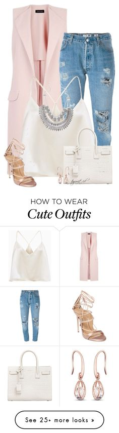 """""""Chrissy Teigen"""" by tayswift-1d on Polyvore featuring New Look, Levi's, Dsquared2 and Yves Saint Laurent"""