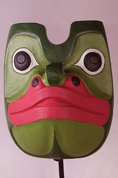 Native American Haida frog mask from Northwest coast