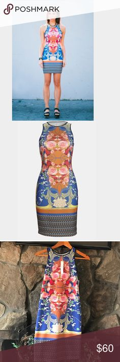 """✴️Dream Daily Nouveau Scarf' Dress✴️ Flower power fuels a figure-flattering tank dress colored with a fashion-forward mix of patterns. Approx. length from shoulder to hem: 34 1/2"""" Unlined. Polyester/spandex; dry clean. By Dream Daily; imported. Savvy. Nordstrom Dresses Midi"""
