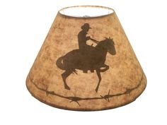 Western Lamp Shade with a Silhouette of a by ShadeNatureInArt, $40.00