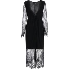 See Thru Plunging Neck Lace Maxi Dress ($31) ❤ liked on Polyvore featuring dresses, maxi length dresses, lace dress, plunge-neck dresses, lacy dress and plunge neck maxi dress
