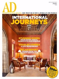 Get your digital subscription/issue of AD Architectural Digest India-July - August 2015 Magazine on Magzter and enjoy reading the magazine on iPad, iPhone, Android devices and the web. Ad Architectural Digest, Architectural Design House Plans, Village House Design, Village Houses, Indian Architecture, Architecture Design, Architectual Digest, Innovative Websites, India Design
