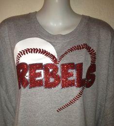 Bling Shimmer Baseball Mom Shirt Customize with by brandy7739, $20.00. Softball!!