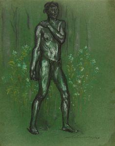 Flower Child, Arthur Bowen Davies, Gift of Clinton Lindley