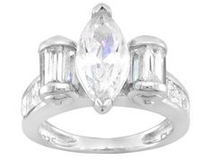 Bella Luce (R) 3.62ctw Rhodium Plated Sterling Silver Ring