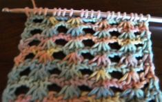 Lots of Crochet Stitches by M. J. Joachim: Narcissus Lace Tunisian Stitch