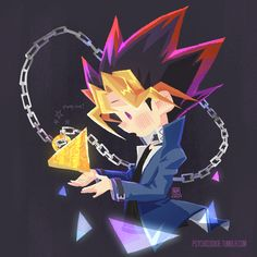 My dear @bot helped me to make a moving GIF for Magical Yugi! Here is my processs GIF as well :D The illustration is over HERE!!