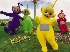Telletubies. now I cant recall why I liked this so much seems rather odd for weird creatures to have tvs on their stomachs