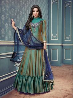 Green+Color+Designer+Latest+Design+eid+Party+wear+Salwar+Kameez+