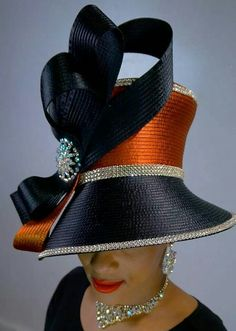 awesome This church hat worn by a black woman represents the main black woman church uni...