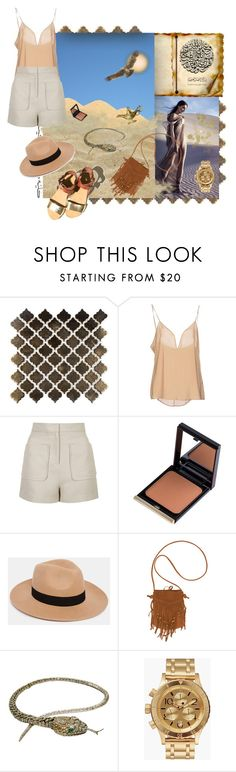 """Arabian Nights"" by renerose ❤ liked on Polyvore featuring Merola, Zuhair Murad, Topshop, Kevyn Aucoin, ASOS, Billabong, Nixon, Desert, safari and arabic"