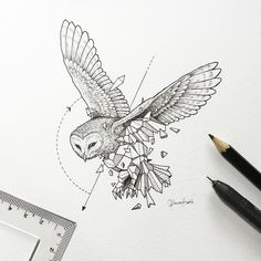 #GeometricBeasts l Owl by kerbyrosanes