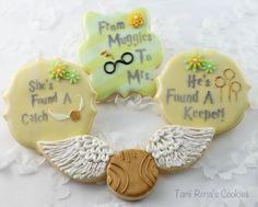 harry potter bridal shower cookies