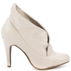 Winter wedding shoe idea. Leather bootie.  Annona Bootie - Stone by Report