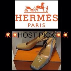 Auth HERMES Color block Leather  Slingbk Pumps 37 Authentic HERMES Color blocked Patent Leather  Slingback HEELS/ Pumps/ Shoes Sz 37  BEAUTIFUL HERMES LUXURY WITH BOX AND DUSTBAGS!!   Bottoms are immaculate and refurbished to appear new, all original markings are intact!!  PRE-OWNED AUTHENTIC   Biege/Blue Color  FRANCE 37 / USA 7 approx.   Leather   Made in France   The design is gorgeous and is extremely unique but still, timeless and extremely classy! The details are exquisite. The Hermes…