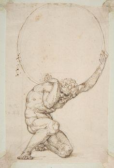Baldassare Tommaso Peruzzi      Crouching Figure of Atlas