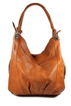 9064bda58870e3 BELLI® großer ital. Nappa Leder Shopper Beuteltasche braun marrone -  35x31(mittig)x17 cm (B x H x T): Amazon.de: Bekleidung