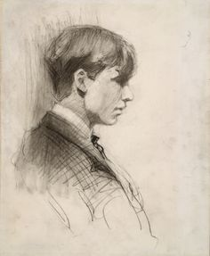 Self Portrait by Edward Hopper  (Whitney Museum of American Art, NYC) - American Realism (Viewed as part of the Exhibit - Hopper Drawings at the Whitney 10/5/13)