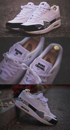 "quality design fa4bc 04446 Custom Nike Air Max 1 ""Master of Monochrome"" by Dent Kicks Custom"