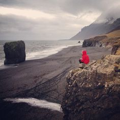 Beautiful beach in the #EastFjords of #Iceland