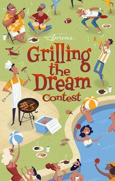 https://www.behance.net/gallery/38743371/Grilling-The-Dream?utm_medium=email