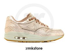 Nike Wmns Air Max 1 Cut Out PRM Metallic Red Bronze Snake Collection (644398-900) - RMKstore