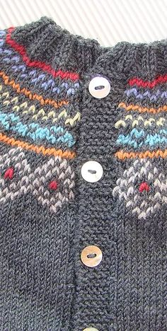 This Pin was discovered by any Knit Cardigan Pattern, Baby Cardigan, Baby Dress Patterns, Baby Knitting Patterns, Knit Baby Sweaters, Fair Isle Knitting, Crochet, Doll Clothes, Barbie