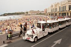 Biarritz - Le Petit Train de la Glande Plage - my friend and I used to joke about this being the big attraction, you run out of things pretty quick when you are there three months straight every summer.