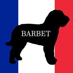 barbet name silhouette on flag