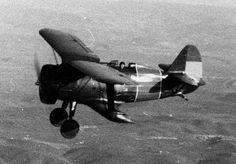 Spanish Republican I-15 fighter in flight, 1936