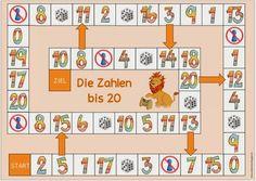 Ideenreise: Zwei Spielfelder für DAZ (Die Zahlen)