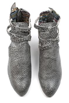 Gray booties are a great alternative to brown or black.