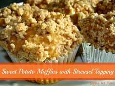 Sweet Potato Muffins with Streusel Topping  on MyRecipeMagic.com