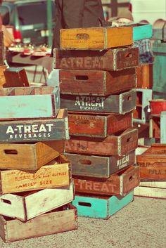 Old Wooden Beverage Crates...