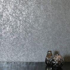 Arthouse Retrograde Silver Mauve Grey Geometric Hexagon Metallic Wallpaper