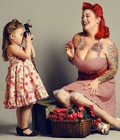 Mother daughter pin up photo shoot- too precious!