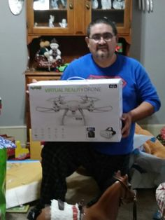 .... And, I get the best wife of the year award for Ben's big Christmas present- a virtual reality drone!!!! Not only is it virtual reality, but it records, live streams and takes pictures- FAA watch out!!!! He was like a kid in a candy store <3