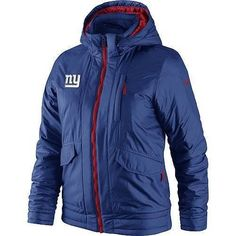 Nike New York Giants Ladies Overtime Padded Full Zip Performance Jacket - Royal Blue Steelers Jacket, Steelers T Shirts, Steelers Gear, Pittsburgh Steelers, Steelers Football, Dallas Cowboys, Packers Gear, Nfl Packers, Nike Outfits