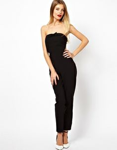 ASOS Bandeau Jumpsuit With Bow