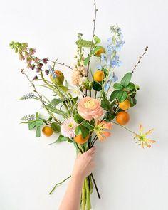 Happy Flowers, Bunch Of Flowers, Cut Flowers, Wild Flowers, Hand Tied Bouquet, Flower Aesthetic, Amazing Flowers, Plant Decor, Flower Decorations