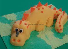 pasteles de dinosaurio pasta fondant | dinosaurio
