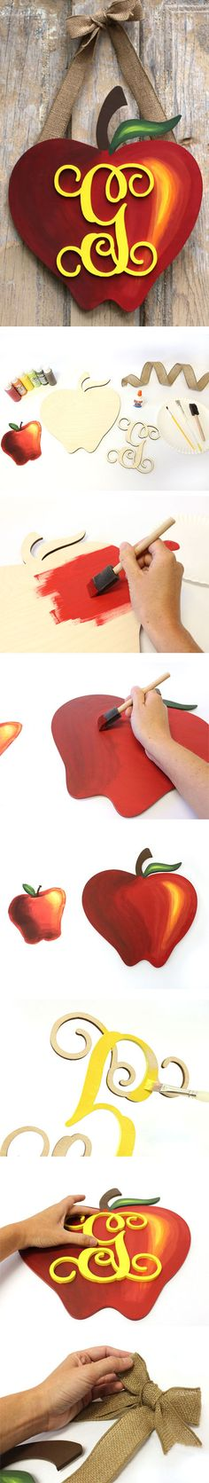 Apple Monogram Wreath | Back to School Wreath | CraftCuts.com